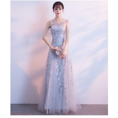 eg48 敬酒服新娘2018結婚新款回門禮服長款派對連衣裙晚禮服女顯瘦長裙