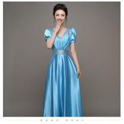 eg78  彩紗婚紗學生藝考禮服舞台獨唱蓬蓬裙年會主持晚禮服長款演出服女