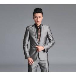 新郎 結婚禮服 男士西裝 面試 岳父 表演 演講 商務 宴會 西服套裝 新款 修身 毛料 韓版 出租