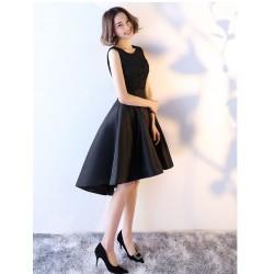 cs29  短款表演秋季女晚禮服2020黑色活動高貴優雅小洋裝永和店