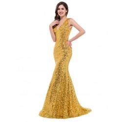 ES37   金色藍色 新款禮服 晚禮服長款 亮片禮服魚尾禮服拖地 酒紅色禮服永和店