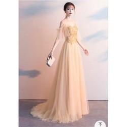ES39 2020新款晚禮服女生日宴會名媛氣質氣場女王主持仙氣夢幻森系仙女系夏永和店