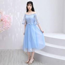 PL 21  2020新款粉色伴娘服中長款仙氣質顯瘦姐妹團修身婚禮禮服裙女夏季