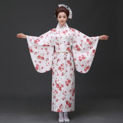 H1 cosplay 日本傳統女士和服長款和服睡袍浴衣舞台表演出寫真服裝