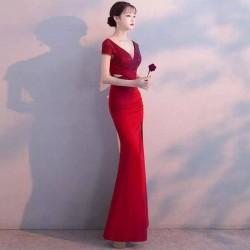 wn4 年會名媛晚禮服女高端2020新款宴會高貴優雅魚尾顯瘦氣質長款.出租