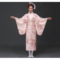 H2 cosplay 日本傳統女士和服長款和服睡袍浴衣舞台表演出寫真服裝
