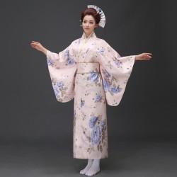 H3 cosplay 日本傳統女士和服長款和服睡袍浴衣舞台表演出寫真服裝
