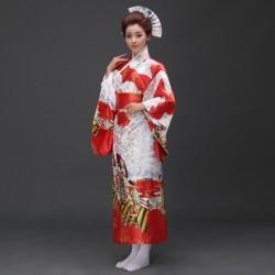 H5 cosplay 日本傳統女士和服長款和服睡袍浴衣舞台表演出寫真服裝