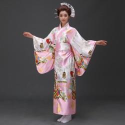 H6 cosplay 日本傳統女士和服長款和服睡袍浴衣舞台表演出寫真服裝