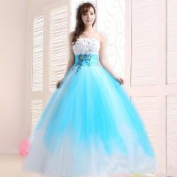 ES3 大萊 晚禮服 長款 結婚 婚宴 外拍 花朵 蕾絲 長裙 拖尾 彩紗 孕婦 敬酒服