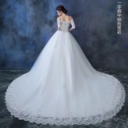 LW1 長款禮服新娘結婚敬酒服婚紗