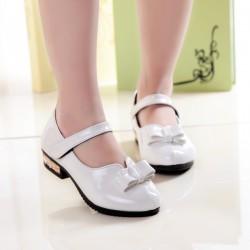 sh1 女童皮鞋學生演出皮鞋小女孩平底單鞋兒童白色皮鞋花童鞋
