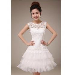 N8 質感 蕾絲 敬酒 新娘 婚紗 伴娘 婚禮 宴會 主持 領獎 公主 小禮服 表演服 出租