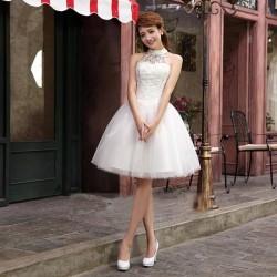 N9 質感 蕾絲 敬酒 新娘 婚紗 伴娘 婚禮 宴會 主持 領獎 公主 小禮服 表演服 出租