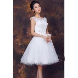 N1 質感 蕾絲 敬酒 新娘 婚紗 伴娘 婚禮 宴會 主持 領獎 公主 小禮服 表演服 出租