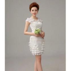 N2 質感 蕾絲 敬酒 新娘 婚紗 伴娘 婚禮 宴會 主持 領獎 公主 小禮服 表演服 出租