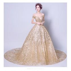 eg27  長款宴會高貴優雅長款端莊大氣晚宴拖尾外拍 新娘婚紗