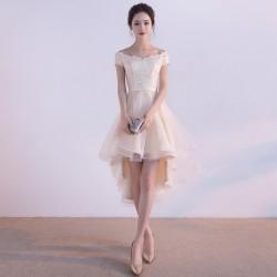 cs11  質感 蕾絲 敬酒 新娘 婚紗 伴娘 婚禮 宴會 主持 領獎 公主 小禮服 表演服 出租