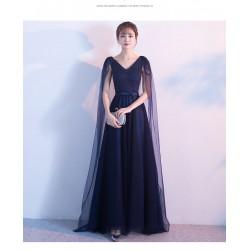 eg32 浪漫星光 深藍高雅飄逸 主持結婚 主唱 表演 晚禮服