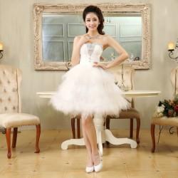 N13 伴娘禮服短款晚禮服2016新款結婚禮服新娘敬酒服公主小禮服伴娘裙