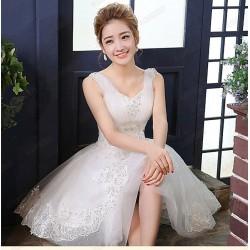 N5  質感 蕾絲 敬酒 新娘 婚紗 伴娘 婚禮 宴會 主持 領獎 公主 小禮服 表演服 出租