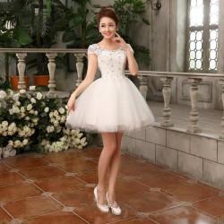 N12 伴娘禮服短款晚禮服2016新款結婚禮服新娘敬酒服公主小禮服伴娘裙
